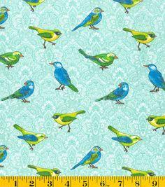 Novelty Cotton Fabric Novelty Birds