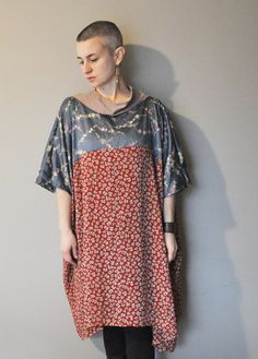 RESERVED for Linda/Upcycled Flow Tunic Top in by RebirthRecycling