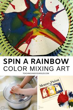 After reading the book Mouse Paint, try this fun toddler color mixing art activity. A fun way to explore the colors of the rainbow! Learning Colors for Toddlers Teaching Toddlers Colors, Toddler Color Learning, Colors For Toddlers, Preschool Colors, Learning Colors, Preschool Art, Preschool Shapes, Toddler Play, Kindergarten Art