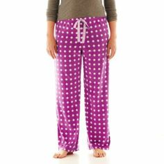 Christmas Sleep Pants-JC Penny's-Pink with Red Dots.