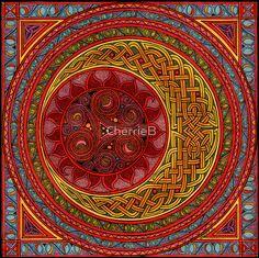 ☮ Celtic Crescent Moon Mandala (with a triquetra in the center circle? Celtic Symbols, Celtic Art, Celtic Knots, Sacred Symbols, Mandala Art, Moon Mandala, Celtic Mandala, Art Hippie, Celtic Designs