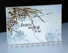 Cones & Berries 40-495 et Joy to all 30-322 de Penny Black par Micheline 'Mimi' Jourdain