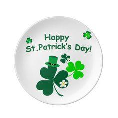 Happy St. Patrick's Day Dinner Plate - saint patricks day st patricks holiday ireland irsih special party