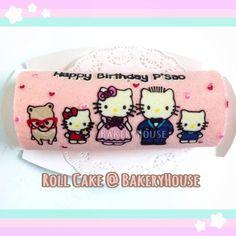 Hello Kitty Roll Cake ^_^