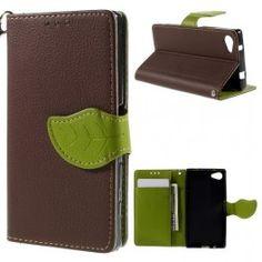Sony Xperia Z5 Compact ruskea puhelinlompakko. Sony Xperia, Compact, Wallet, Purses, Diy Wallet, Purse