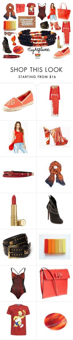 """Nightflame Coil Bracelet"" by lumibon ❤ liked on Polyvore featuring Tory Burch, Kate Spade, Alessandra Rich, STELLA McCARTNEY, Reiss, EMMA J SHIPLEY, Elizabeth Arden, Alaïa, Friis & Company and Topshop"