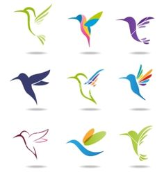 Hummingbird logo vector 1542001 - by pangeran on VectorStock®