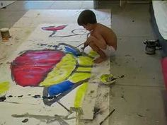 ABSTRACT PAINTING TALENTED 5 YEARS OLD MAEL