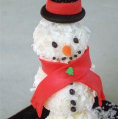Snowman+Cake+Pops   Snowman Cake Pop