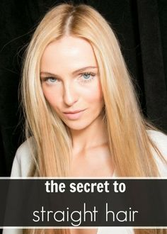 How to Get Perfect Sleek Straight Hair