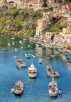 Marina di Corricella (Napoli or Naples, Italy)\ My heritage on my Mom's Side of the family. Gorgeous to visit and see it in person. Places Around The World, Oh The Places You'll Go, Travel Around The World, Cool Places To Visit, Places To Travel, New Travel, Travel Goals, Italy Travel, Costa