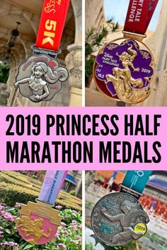 The 2019 Princess Half Marathon Medals have been revealed! Check out all the 2019 medals for the Princess Enchanted Princess Half Marathon, and the Fairytale Challenge! Jasmine, Mulan, Elena of Avalor, and Princess Aurora! Disney Princess Half Marathon, Disney Marathon, Marathon Running, Disney Races, Run Disney, Disney Cruise, Disney World Tips And Tricks, Disney Tips, Disney Planning