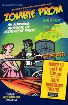 Augustana Theatre to Present Musical 'Zombie Prom' Theatre Nerds, Theater, James And Giant Peach, Teenage Love, Zombie Prom, Yellow Submarine, Musicals, Broadway, Singing