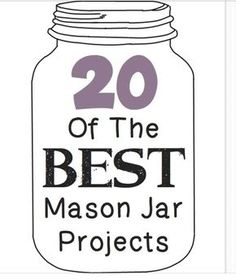 Fun, creative, and cheap ideas on what to do with your mason jars. Website is posted in info to learn more!