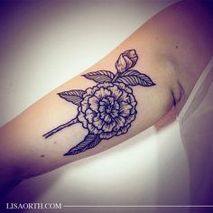 Some wild flowers for Lauren, her first tattoo.  Artwork and photo © 2015 Lisa Orth.