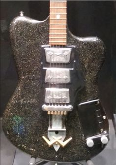 This 1960s Wandre electric guitar with Davoli pickups and an aluminum neck was made in Italy and used by Buddy Miller, and is on display at the Country Music Hall of Fame.