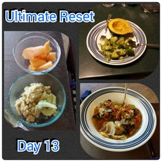 #ultimatereset #day13 This veggie soup is great. I made mine with more veggies and less liquid. Today was also the first day I gave in and had a bite of someones tamales adn guacamole. I just tried it but I still felt a bt guilty for even trying.  www.beachbodycoach.com/amullett #motivated and #determined #vegan