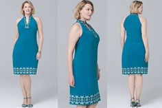 275c3ecbbce  PlusModelMag Plus Fashion Find  Embellished Knit Shift Dress from White  House Black Market