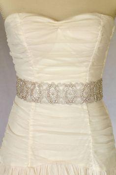 Eden  Rhinestone bridal sash wedding sash by AmieNoelDesigns, $98.00