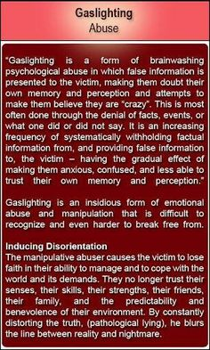"Have You Felt Crazy?? Maybe it was ""Gaslighting"" This is common in partner abuse."