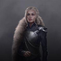 Daenerys Targaryen, Jesus Blones on ArtStation at https://www.artstation.com/artwork/eWYvY