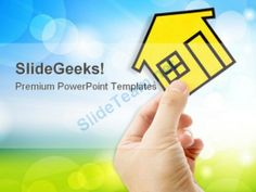 Hand Holding A Home Real Estate PowerPoint Templates And PowerPoint Backgrounds 0411 #PowerPoint #Templates #Themes #Background