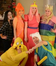 The entire Adventure Time gang.