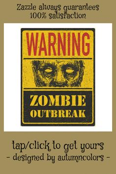Poster Zombie Outbreak. Sign Board With Zombie Postcard #apocalypse #art #attack #background #bite #Postcard #GearsSurvivalWeapons Survival Life Hacks, Survival Quotes, Survival Food, Outdoor Survival, Survival Prepping, Emergency Preparedness, Survival Skills, Survival Supplies, Camping Survival