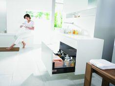 Accesorii Mobila Bucatarii Sertare Silentioase Tandembox Invio in Baie Kitchen Hardware, Kitchen Storage, Drawers, Loft, Bed, Furniture, Fasteners, Home Decor, Glass