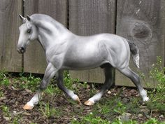 Equine Art From The Heart by Linda R. Elkjer, custom Cleveland Bay model modified to a Percheron Drafter