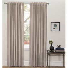 Olivia Solid Blackout Thermal Rod Pocket Curtain Panels