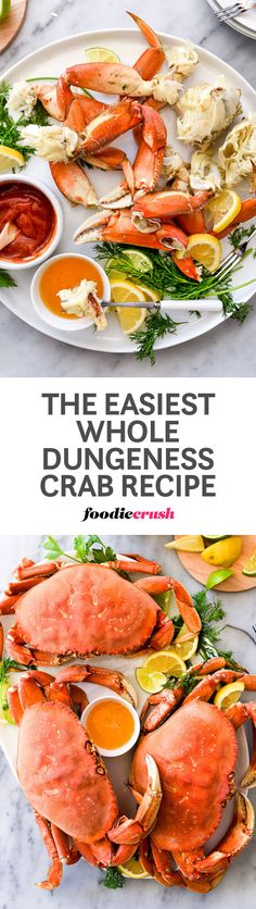 Low Carb Recipes To The Prism Weight Reduction Program Whole Dungeness Crabs Are The Simplest Way To Create A Festive Meal That Looks Totally Elegant But Is Actually Deceptively Easy To Prepare Beef Recipes For Dinner, Entree Recipes, Fish Recipes, Seafood Recipes, Dungeness Crab Recipes, Main Dish Salads, Seafood Dinner, Quick Easy Meals, Recipes