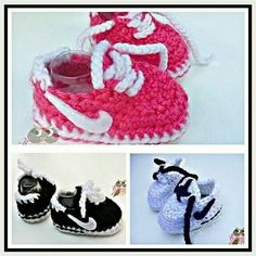 So cute........Nike crochet baby booties.... kangen sudah buat ini lagi...