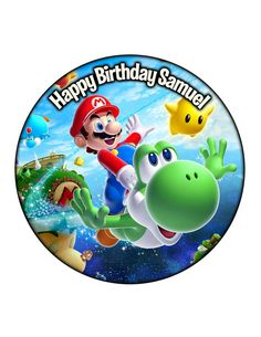 Edible Cake Cupcake Topper Decoration Image Mario by CakersWorld