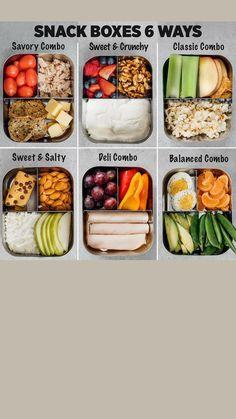 Easy Healthy Meal Prep, Good Healthy Recipes, Healthy Snacks, Easy Meals, Healthy Eating, Healthy Packed Lunches, Lunch Snacks, Lunch Recipes, Lunch Meal Prep