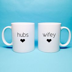 Unique Wedding Gift Idea Bridal Shower Hubs And Wifey Coffee Mug