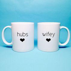 Unique Wedding Gift Idea - Bridal Shower Gift - Hubs and Wifey Coffee Mug - Unique Bridal Shower Gift - Wedding Gift Idea - Anniversary Gift by TheCoffeeCorner on Etsy https://www.etsy.com/listing/204653803/unique-wedding-gift-idea-bridal-shower