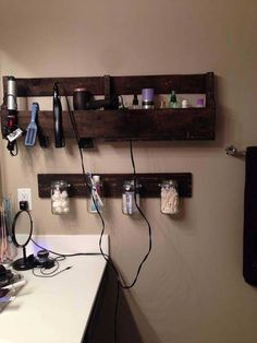 Hair Product & Curling/Flat Iron Shelf
