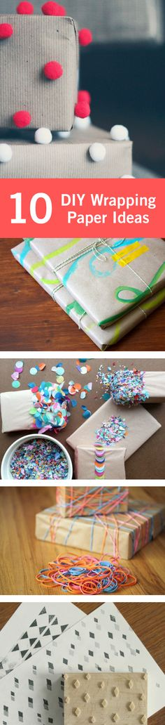 DIY wrapping adds an extra special touch to your holiday (or birthday) gifts. It lets your friends and family know that you took the time to make sure that their present was personalized right down to the wrapping.