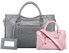 Balenciaga Giant City Bag ($1,895) and Balenciaga Giant Mini City Bag ($1,295)