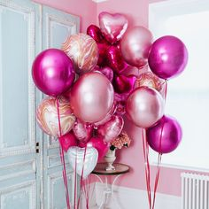 Pink Balloons Delivered by Bubblegum Balloons
