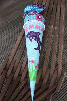 Schultüten - Schultüte / Zuckertüte aus Stoff Delfin - ein Designerstück von larimari bei DaWanda