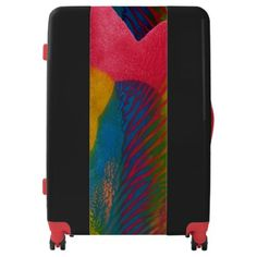 "Shop Colorful Abstract Painting/Artwork ""Reciprocate"" Luggage created by Mick_Designs. Custom Luggage, Luggage Suitcase, Suitcases, Trunks, Colorful, Abstract, Unique, Artwork, Bags"