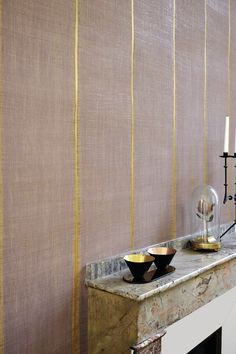 Nomades collectie van Elitis Decoration Inspiration, Interior Design Inspiration, Asian Wall Decor, Motif Art Deco, Japanese Wall, Interior Wallpaper, Inspirational Wallpapers, Wall Finishes, Painted Paper