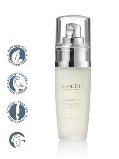 Balancing Facial Serum:    Seacret™ Balancing Facial Serum reduces the appearance of wrinkles. Containing a concentrated combination of Vitamins, Dead Sea Minerals, Herbal Extracts, Amino Acids, and Carbohydrates, known as skin nutrients and stabilizers. This formula adds just the right amounts of nutrients and moisture to refresh your appearance for a more youthful look.