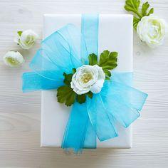 Mega Ribbon and Floral Embellished Gift Box
