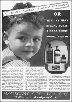 1935 advertisement for cod liver oil