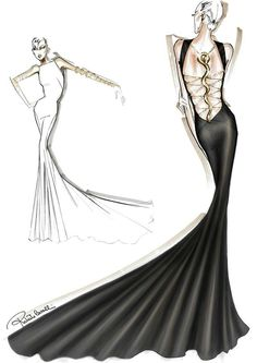 Roberto Cavalli sketch.. I would love this style for my wedding dress ..
