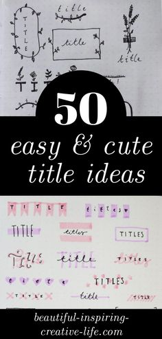 Do you need some easy journal heading ideas for your spreads? Try one of these! Bullet Journal Titles, Bullet Journal Spread, Art Journal Pages, References Page, Good Notes, New Job, My Images, Hand Lettering, I Am Awesome