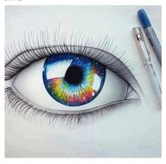 Galaxy eye drawing